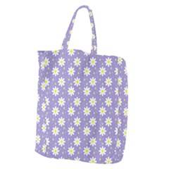Daisy Dots Violet Giant Grocery Zipper Tote