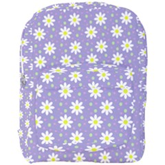 Daisy Dots Violet Full Print Backpack