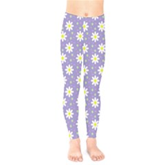 Daisy Dots Violet Kids  Legging