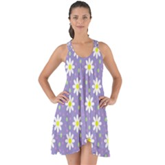 Daisy Dots Violet Show Some Back Chiffon Dress