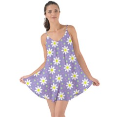 Daisy Dots Violet Love The Sun Cover Up