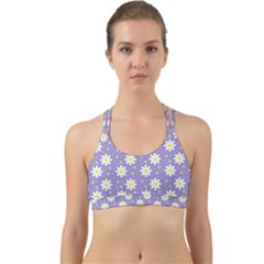 Daisy Dots Violet Back Web Sports Bra