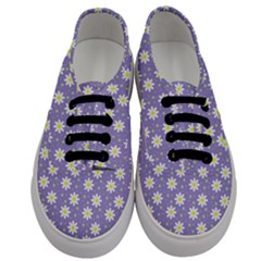 Daisy Dots Violet Men s Classic Low Top Sneakers