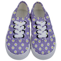 Daisy Dots Violet Kids  Classic Low Top Sneakers