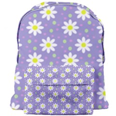 Daisy Dots Violet Giant Full Print Backpack