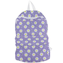Daisy Dots Violet Foldable Lightweight Backpack