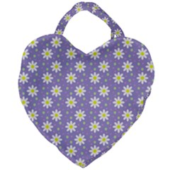 Daisy Dots Violet Giant Heart Shaped Tote