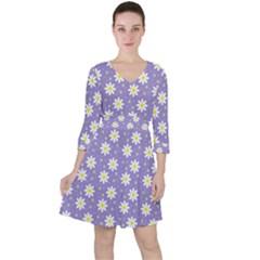 Daisy Dots Violet Ruffle Dress