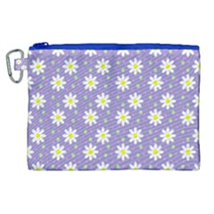 Daisy Dots Violet Canvas Cosmetic Bag (xl)