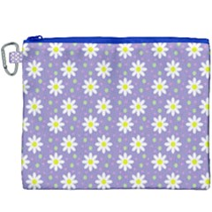 Daisy Dots Violet Canvas Cosmetic Bag (xxxl)