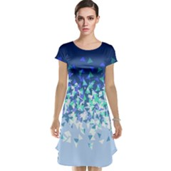 Blue Disintegrate Cap Sleeve Nightdress