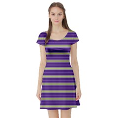 Color Line 1 Short Sleeve Skater Dress