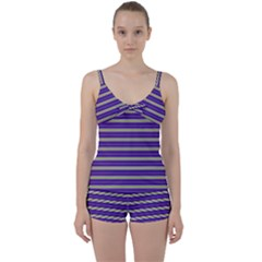 Color Line 1 Tie Front Two Piece Tankini