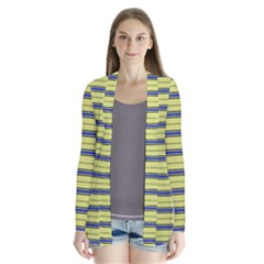 Color Line 3 Drape Collar Cardigan