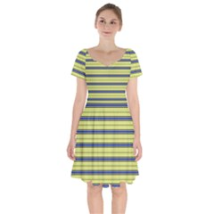 Color Line 3 Short Sleeve Bardot Dress