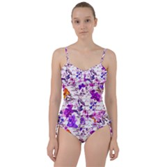 Ultra Violet,shabby Chic,flowers,floral,vintage,typography,beautiful Feminine,girly,pink,purple Sweetheart Tankini Set