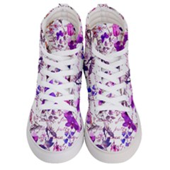 Ultra Violet,shabby Chic,flowers,floral,vintage,typography,beautiful Feminine,girly,pink,purple Women s Hi Top Skate Sneakers