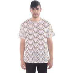 Gold,white,art Deco,vintage,shell Pattern,asian Pattern,elegant,chic,beautiful Men s Sports Mesh Tee