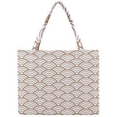 Gold,white,art Deco,vintage,shell Pattern,asian Pattern,elegant,chic,beautiful Mini Tote Bag