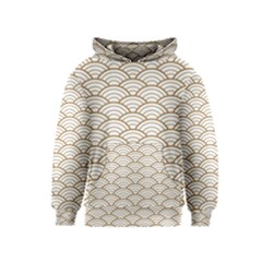 Gold,white,art Deco,vintage,shell Pattern,asian Pattern,elegant,chic,beautiful Kids  Pullover Hoodie