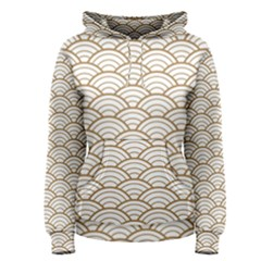 Gold,white,art Deco,vintage,shell Pattern,asian Pattern,elegant,chic,beautiful Women s Pullover Hoodie