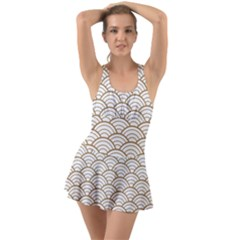 Gold,white,art Deco,vintage,shell Pattern,asian Pattern,elegant,chic,beautiful Swimsuit