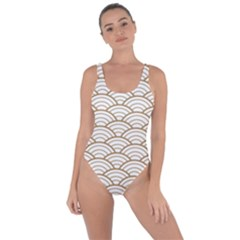 Gold,white,art Deco,vintage,shell Pattern,asian Pattern,elegant,chic,beautiful Bring Sexy Back Swimsuit