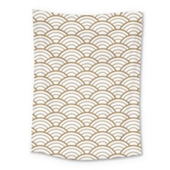 Gold,white,art Deco,vintage,shell Pattern,asian Pattern,elegant,chic,beautiful Medium Tapestry