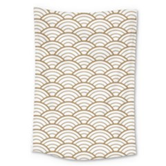 Gold,white,art Deco,vintage,shell Pattern,asian Pattern,elegant,chic,beautiful Large Tapestry