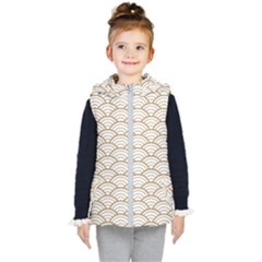 Gold,white,art Deco,vintage,shell Pattern,asian Pattern,elegant,chic,beautiful Kid s Puffer Vest