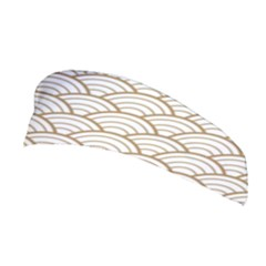 Gold,white,art Deco,vintage,shell Pattern,asian Pattern,elegant,chic,beautiful Stretchable Headband