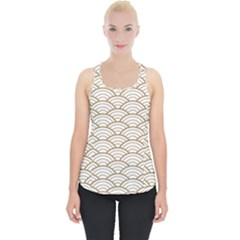 Gold,white,art Deco,vintage,shell Pattern,asian Pattern,elegant,chic,beautiful Piece Up Tank Top