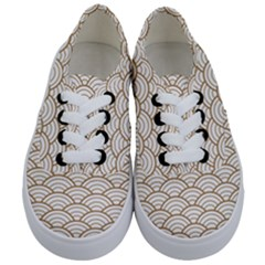 Gold,white,art Deco,vintage,shell Pattern,asian Pattern,elegant,chic,beautiful Kids  Classic Low Top Sneakers