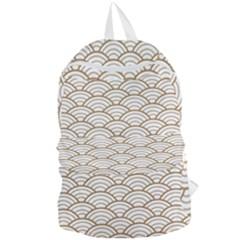 Gold,white,art Deco,vintage,shell Pattern,asian Pattern,elegant,chic,beautiful Foldable Lightweight Backpack