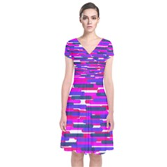 Fast Capsules 6 Short Sleeve Front Wrap Dress