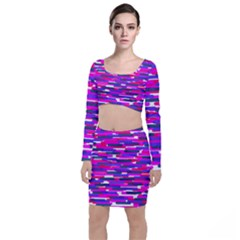 Fast Capsules 6 Long Sleeve Crop Top & Bodycon Skirt Set