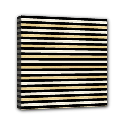 Black And Gold Stripes Canvas Travel Bag