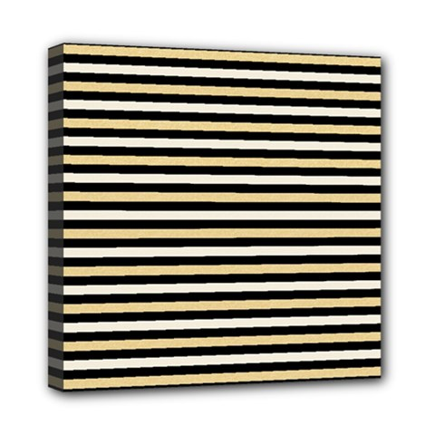 Black And Gold Stripes Multi Function Bag