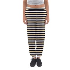 Black And Gold Stripes Women s Jogger Sweatpants