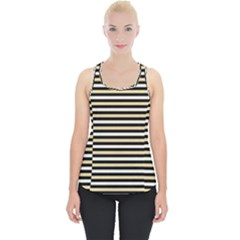 Black And Gold Stripes Piece Up Tank Top