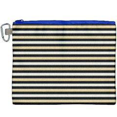 Black And Gold Stripes Canvas Cosmetic Bag (xxxl)