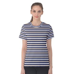 Royal Gold Classic Stripes Women s Cotton Tee
