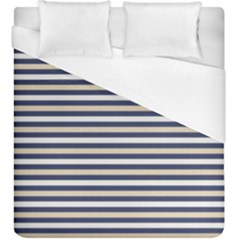 Royal Gold Classic Stripes Duvet Cover (king Size)