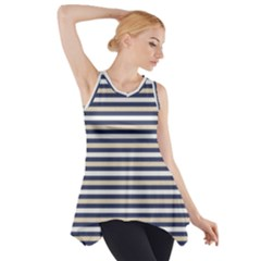 Royal Gold Classic Stripes Side Drop Tank Tunic