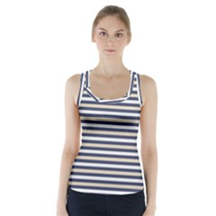 Royal Gold Classic Stripes Racer Back Sports Top