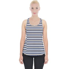 Royal Gold Classic Stripes Piece Up Tank Top