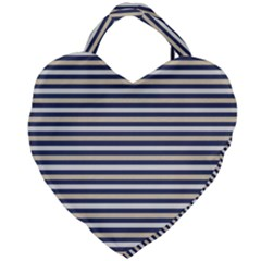 Royal Gold Classic Stripes Giant Heart Shaped Tote