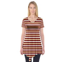 Gold And Wine Short Sleeve Tunic