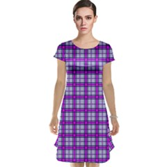 Purple Tartan Cap Sleeve Nightdress