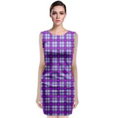 Purple Tartan Classic Sleeveless Midi Dress